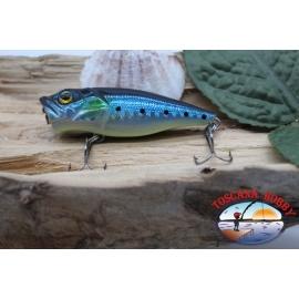 Popperino Minnow de Víbora, 6cm-8g, flotante, azul/negro, spinning. FC.V461