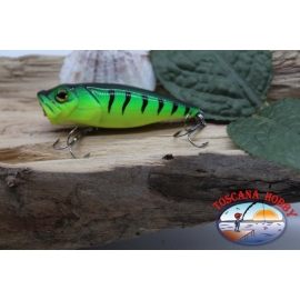 Popperino Minnow Viper, 6cm-8g, floating, tiger green, spinning. FC.V466