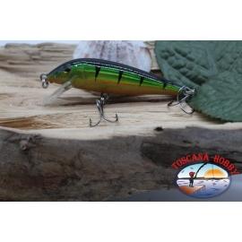 Artificial Amy Minnow de Víbora, 7cm-7gr, flotante, naranja/verde, spinning. FC.V476
