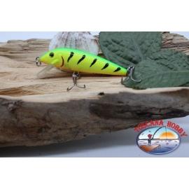 Artificial Amy Minnow de Víbora,7cm-7gr, flotante, tigre/amarillo, spinning.FC.V479