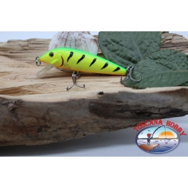 Artificial Amy Minnow Viper,7cm-7gr, floating, tiger/yellow, spinning.FC.V479