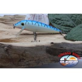 Amy-De-Vipère, 7cm-7gr, flottante, blanc/bleu, filature. FC.V488