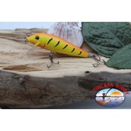 Amy Minnow de Víbora, 7cm-7gr, flotante, tigre naranja, spinning. FC.V492