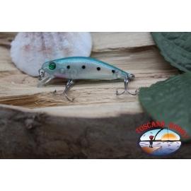 Amy Minnow de Víbora, 4cm-2,2 gr, blanco/azul,spinning. FC.V498