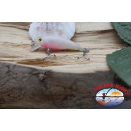 Amy Minnow de Víbora, 4cm-2,2 gr, blanco/rosa, spinning. FC.V501