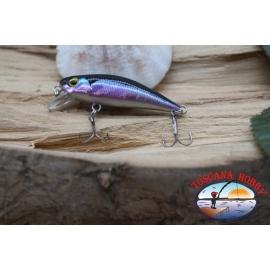 Amy Minnow de Víbora, 4cm-2,2 gr, púrpura/negro, spinning. FC.V506
