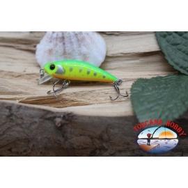 Amy Minnow de Víbora, 4cm-2,2 gr, amarillo/verde, spinning. FC.V512