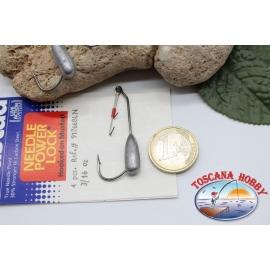 1bustina 4 pcs Love sealed with hook Mustad, cod.91766BLN, no.2/0 FC.PA5
