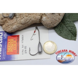 1bustina 4 pcs Love sealed with hook Mustad, cod.91766BLN, no.3/0 FC.AP6