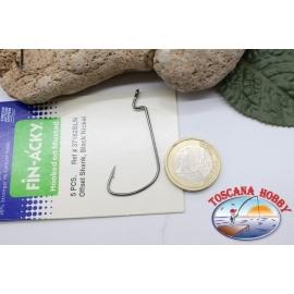 1 paquete de 5 uds Ami-sellado de compensación de Mustad, el bacalao.37182BLN, no.1/0 FC.AP21