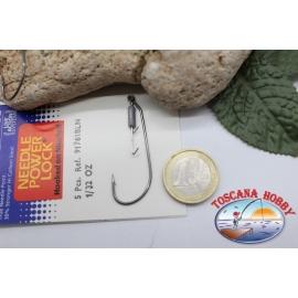 1 paquet de 5 pièces Ami est tombé Mustad crochet, code.91761BLN, pas.2/0 FC.AP31