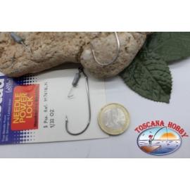 1 paquet de 5 pièces Ami est tombé Mustad crochet, code.91761BLN, pas.3/0 FC.AP32
