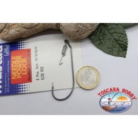 1 päckchen mit 5 stück Ami-versiegelt mit haken Mustad, cod.91761BLN, nr. 5/0 FC.AP34