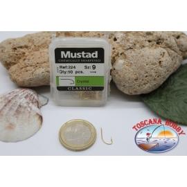 1 box 50pz Ami Mustad cod.224 n.9 chemically sharpened FC.B3B