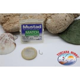 1 caja 50pcs anzuelos Mustad-cod.267 n.12 Gancho de Partido FC.B9C