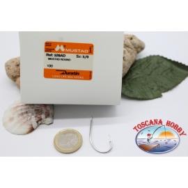 1 boîte de 100 pcs Mustad cod.528AD pas.5/0 Long de la vie de la mer Crochets FC.B17A
