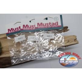 3pz. Mazzine für meeräschen Mustad sz.9 CF.A567C