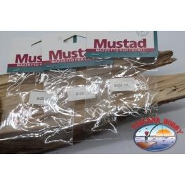 3pcs. Mazzine pour le mulet Mustad sz. 13 FC.A567E