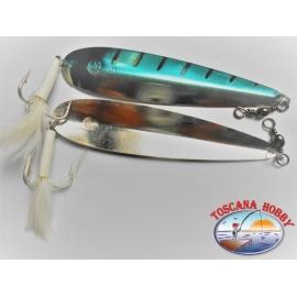 Teelöffel Haarwellend Makrele mit Feder gr.38 Messung 6 von 15 cm.FC.R92