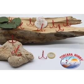 10 agudos anzuelos Mustad, el bacalao. 35647R, no. 1, rojo FC.H1A