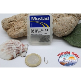 1 box 25pz Ami Mustad cod.540 n.14, occhiello FC.B20D