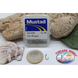 1 boîte de 25 pcs Mustad cod.540 n.16, oeillets FC.B20E
