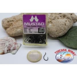 1 box 50pz angelhaken Mustad cod. 11871, nr. 10, carp hook FC.B24B