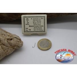 1box 100pc Mustad-cod. 5713, no. 18 de Cristal gancho, FC.B39A