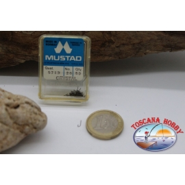 1box 50pcs Mustad cod. 5713, no. 26, Crystal, FC.B39D