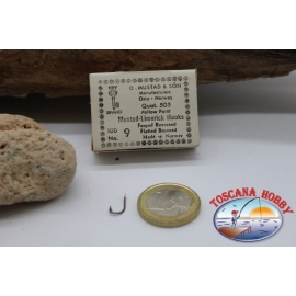 1 caja de 100 unidades Mustad-cod.505 n.9 , Surfcasting FC.B14P