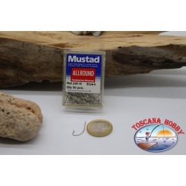 1 box 50pz Angelhaken Mustad cod.220N nr. 4, All-Round Hook FC.B1L