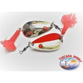Cucharadita de una mirada Audaz con Arco Suave de 4 cm-12gr -Plata/Rojo.FC.R122
