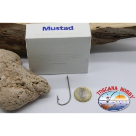 1 box 50pcs hooks Mustad cod. 34007, no. 4/0, eyelet FC.B57A