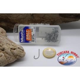 1 box 25 st. angelhaken Mustad cod. 34007, nr. 5, salt water, öse FC.B57C