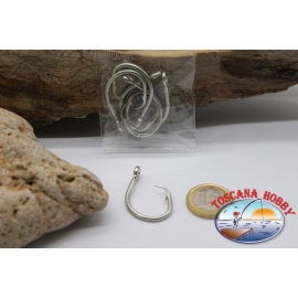 5 pcs Mustad cod. 39960D, no. 10/0, Tuna circle hooks, eyelet FC.B58A