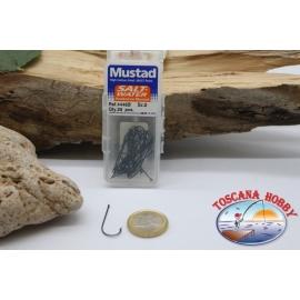 1 box 25 pcs Mustad cod. 4446B, no.2, salt water hooks, eyelet FC.B62F