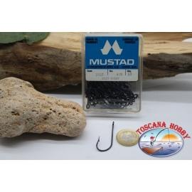 1 boîte de 50 pcs Mustad cod. 3137, n.4/0, oeillets FC.B68B