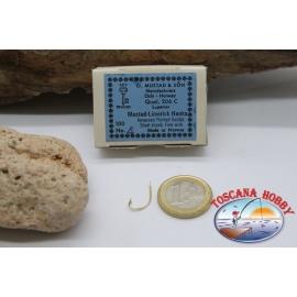 1 caja de 100 unidades Mustad-cod. 206C, n.4, Limerick ganchos, FC.B69A