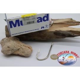 1 box 50 stk. angelhaken Mustad cod. 2330DT, nr. 1, Kirby sea hooks, öse FC.B72A