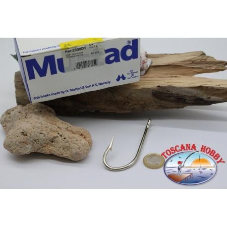 occhiello FC.B72A 1 box 50 pz ami Mustad cod Kirby sea hooks n.1 2330DT