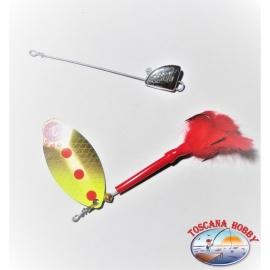 Cuchara Mepps Lusox con la Rotación de la Cabeza del Jig tamaño de 2 - 10 gr.FC.R143