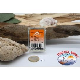 1 box 50pcs hooks Mustad cod. 3730A, no. 7, the Aberdeen sea hooks FC.B83E