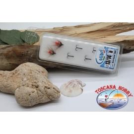 1 confezione da 8pz. en remuant Colibri sz.13-14 pour pêche à la traîne et la filature. CB02
