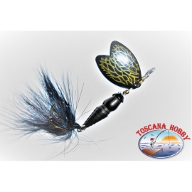 Cuchara Mepps Mariposa Giratoria de tamaño de 2 de Color Negro.FC.R174