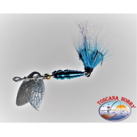 Cucchiaino Mepps a Farfalla Rotante Misura 00 Colore blu.FC.R178
