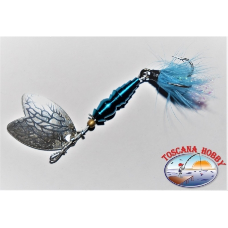 Cuchara Mepps Mariposa Rotary: tamaño 0 Color azul.FC.R180