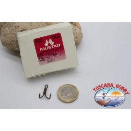 1 box 50 pcs. treble hooks, Mustad, cod.9430, no.8 FC.H3A
