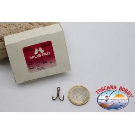 1 box 50 stk. haken, Mustad, cod.9430, nr. 9 CF.H3B