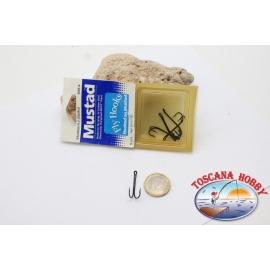 1 box 5 pcs Ami double Mustad cod. 80525BL, no.6, carbon steel hooks,FC.D5A
