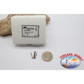 1 caja de 100 unidades Amor doble Mustad-cod. 35881, no.5, cebo vivo, ganchos,FC.D6A